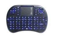 ingrosso tastiera senza fili pieghevole mini-Mini tastiera portatile Rii Mini i8 Tastiere bluetooth senza fili gioco Fly Air Mouse Multi-Media Telecomando Touchpad Palmare PC Android