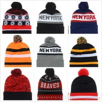 Wholesale Skull Beanies For Cheap - winter warm basketball beanies cap Cheap beanies hats knitted Hat for men and women Reds beanie hat mix order