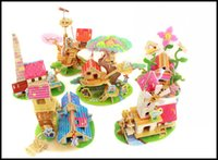 Wholesale 3D puzzle child educational toy puzzles cartoon building toys for kids hot sale gift