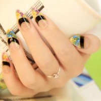 ong Style Sprint Flower Nail Art Patch falso falso dito, Unghie finte, Visualizza Stickers Tips.4.19797.Free driver video il trasporto Windo ...