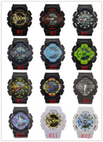 Wholesale Digital Analog Military - 5pcs lot relogio G110 men's sports watches, LED chronograph wristwatch, military watch, digital watch, good gift for men & boy, dropship