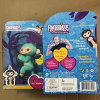 Wholesale Old Colors - Stock! 2017 Fingerlings Monkeys fingerling baby monkey Smart Induction Interactive Sensor Toys 6 colors touch interaction