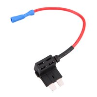 Wholesale Atc Holder - 12v 2-Add A Circuit Fuse Holder Tap Piggy-Back Standard Blade Fuse Tap ATO ATC Nondestructive Electric Effect Fuse Extractor K1833