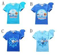 Wholesale Summer Children Cartoon Tees - Baby boys T-shirts summer children short sleeve cotton cartoon seabed small column t shirt boy tee shirts C001