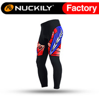 Wholesale Mens Cycling Tights Long - Nuckily Mens high performance stretch fabric biking tights Men's anti UV with most comfortable padded cycling long pant MD002