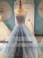 Principessa 2015 Amazing Light Blue abito da sera Quinceanera abiti con perline in applique Perline CustomMade debutante abiti per dolce 16 ragazze