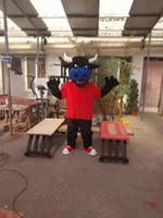 mascote real venda por atacado-Hot alta qualidade Real Pictures touro Galo Bison mascot costume fancy carnival costume frete grátis