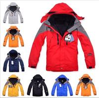 Wholesale Long Waterproof Winter Coat - Authentic Winter Ski-Wear Jackets Outdoor Men's Twinset Jacket Waterproof Coat & Removable Fleece inner& Hooded Warm Jackets