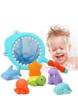 ingrosso giraffe di plastica-Bainsch baby shower bath toys set di giraffa d'acqua per bambini creativi giocattoli da bagno