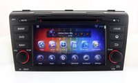 Wholesale Dvd Player For Mazda - Android 4.4 Car DVD Player GPS Navigation for Mazda 3 Mazda3 2004 2005 2006 2007 2008 2009 with BT USB AUX Stereo