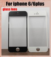 Wholesale Cell Phone Touch Lens - Outer Screen Glass Lens Digitizer Cover Front Glass for iphone 6 iphone 6 plus Spare Parts replacement cell phone parts panel SNP007