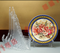 Wholesale Cheap Inch Tall Clear Frosted Plastic Display Stand Easels or Plate Holders Display Dinner Plates Pictures Phone Photo Frame