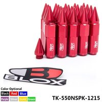 Wholesale Wheel Lug Nut Red - TANSKY - 20PC Blox JDM Style Aluminum Extended Tuner Wheel Lug Nuts With Spike For Wheels Rims M12X1.5 TK-550NSPK-1215