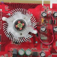 Wholesale Ball Ati - Wholesale- 2pcs High quality Silver 55mm Fan With Heat Sink For Nvidia Geforce & ATI VGA Video Card Cooling