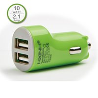 Wholesale Ipad4 Usb - 5V 2.1A dual USB 2 Ports in car charger for iphone 6 plus 5 5s 5c, ipad Air mini ipad4 Samsung HTC LG huawei sony Tablet PC, 2A 10W