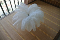 Wholesale white ostrich plumes - 50pcs white Ostrich Feather Plume for Wedding centerpiece christmas feather decor wedding home table decor party supply