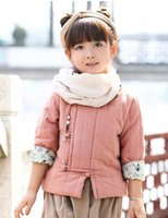 Wholesale China Winter Baby Wear - Girls wear China costume costume Ancient Chinese Literature Search wind children baby boy winter clothes modified Hanfu thickened suit