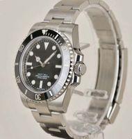 ingrosso orologio mens del quarzo del movt del giapponese-7 Luxury Style 40MM quadrante nero in acciaio inossidabile Automatic Watch Mens 114060 OROLOGIO UOMO Orologio da polso