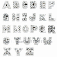 Wholesale P T Z - initials letters A B C D E F G H I J K L M N O P Q R S T U V W X Y Z floating charms for memory living glass locket no glass locket 260 LOT