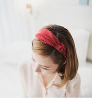 Wholesale Korea Fashion Hair Clip - Fashion Bow Butterfly Yellow Headbands Korea Gray Bow Hair Jewelry 2016 Cute Blue Party Women Accessories 23