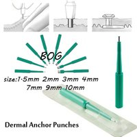 Wholesale Wholesale Disposable Piercing Tools - Wholesale-DAR-Free Shipping Lot of 10pcs Biopsy Dermal Punch Sterilized Disposable Punches for Dermal Anchors Piercing Tools