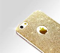 telefonu dinle toptan satış-Elmas flaş Glitter ultra-ince TPU kılıf Telefon kılıfı için iphone 6 s artı kılıf Yumuşak silikon Yeni liste