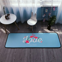 Wholesale Making Family - Large stylish living room floor mats 50 * 150 cm thick bedroom doormat kitchen bathroom bathroom non-slip mats family doormat