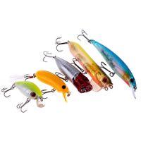 Wholesale Crank Lures Shrimp - 108Pcs Portable Artificial Fishing Lures Set Soft Hard Baits Minnow Spoon Popper Crank Shrimp Jig Treble Hook Tackle Box