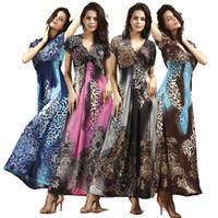 Wholesale Short Sleeve Mermaid Maxi Dress - 2015 New fashion women maxi dresses elegant evening party casual v-neck flower print bohemian long beach dress plus size 858B6