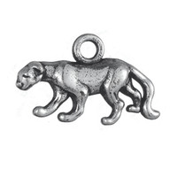 Wholesale Wholesale Cheetah Jewelry - Free shipping New Fashion Easy to diy 30Pcs Double-side Alloy Antique Silver Cheetah Animal Charm Jewelry jewelry making fit for necklace or