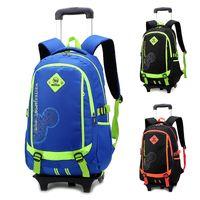 Wholesale Trolley Bags For Boys - Fashion Trolley School Bag Lightening Travel Bag Backpack Back To School Backpack for Girls and Boys Bag Backpack Wheel Bagpack Bags