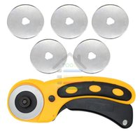 Wholesale Rotary Cutter For Fabric - New 45mm Rotary Cutter Set 5pcs Blades for OLFA Fabric Paper Vinyl Circular Cut Cutting Disc Patchwork Leather Craft Sewing Tool