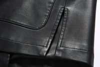 Wholesale Leather Jacket Chinese - Fall-New Brand Top Men Leather Jackets Middle-aged Faux Leather Jacket Men Costume Collar Winter Jackets And Coats Chinese Style
