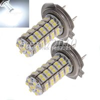 Wholesale H7 68 Smd - Big Promotion H7 68 SMD 3528 1210 LED White Xenon Car Auto Vehicle Headlight Bulb Fog Head Lights Parking Lamp Bulb DC12V