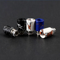Wholesale large mods for sale - Large airflow natural stone drip tips Turquoise and Stainless Steel wide bore drip tip ego Atomizer Mouthpieces for e cigarette mod tank