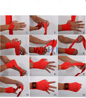 Wholesale Hand Bandages - Pair 250 CM Colorful Boxing Handwraps Bandages Wrist Hand Wraps Training Gloves New and Hot Selling