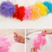Malla de baño Scrubbers Red Flexible Bathing Spa Ducha esponjas Ball Colorful Bath Cepillos Esponjas Bathrom Accesorios colores mezclados YW252