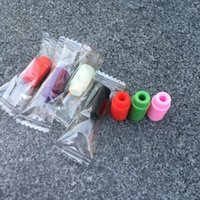 Wholesale Disposable Test Caps - 510 Silicone Mouthpiece Cover Drip Tip Disposable Colorful Silicon testing caps rubber short ego Test Tips Tester Cap drip tips For ecig DHL