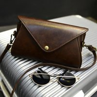 Wholesale Mini Bag New Candy - New Fashion Retro Mini Clutch Purse Candy Color Women Messenger Bag Casual Women Bag Vintage PU Leather Women Shoulder Bag