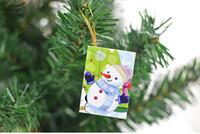 tarjeta de cumpleaños de navidad al por mayor-2017 tarjetas de Navidad calientes Impreso Adornos de Navidad Tarjeta de los deseos Dulce deseo encantador para el regalo de cumpleaños de los niños con paquete al por menor