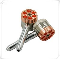 Wholesale bullet shape grinders resale online - Tobacco Grinder Smoking Pipes Bullet Shaped layered Metal Alloy herb Cigar Spice Crusher Cigarette Rolling Machine Rubblet Rotating pipe