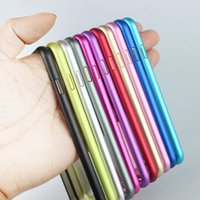 Wholesale Metal Bumper For S4 - 0.7mm Ultra Thin Slim Case Aluminum Metal Frame Bumper For iPhone 8 7 6 6S Plus SE 5 5S Samsung Galaxy S6 S5 S4 Note 4 3 Free Ship
