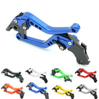 Wholesale Gsx K5 - Motorcycle Racing CNC Clutch Brake Levers w  Adjusters for Suzuki GSXR GSX-R 600 750 1000 1300 K1 K2 K3 K4 K5 K6 K7 K8 K9 Racers