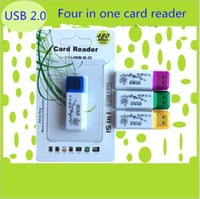 Chinese Usb Adapter Kaufen -Großhandel Vier in einem Chinesischen stil muster kartenleser high speed USB 2.0 adapter-anschluss micro SD TF M2 MS memory stick memory reader
