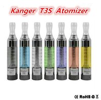 Wholesale E Cigarette T3s Clearomizer - Kangertech T3S Clearomizer Upgrade of T3S Atomizer 3.0ml Replaceable Coil T3s Bottom Coil Clearomizer E Cigarette Vaporizer for ego evod