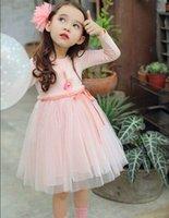 Wholesale Knee Long Fairy Dress - Girl Spring Autumn Dresses Fairy Gauze Long Sleeve Princess Dress Wholesale Children Clothing 331056 2-7T