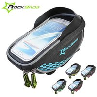 Wholesale Top Handlebar Bicycle Bags - ROCKBROS Waterproof MTB Bike Bicycle Front Top Frame Handlebar Bag Cycling Pouch Touchscreen&Sunvisor 5Colors 136