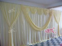 Wholesale Cake Table Swags - New Design Pure White 10ft*20ft wedding stage decoration Wedding Backdrop with Beatiful Swag Wedding drape and curtain