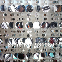 Wholesale M Silver and white sequined curtain glitter decoration festival stage background curtains party decoration