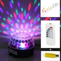 Eclairage Ampoule gros-Led RVB Stage de lumière lampe en cristal de Magic Ball Colorful Party DJ Disco Noël Christmas With MP3
